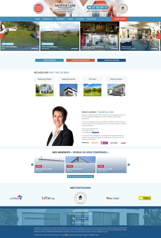 Page d'accueil de Sandrine Lioté