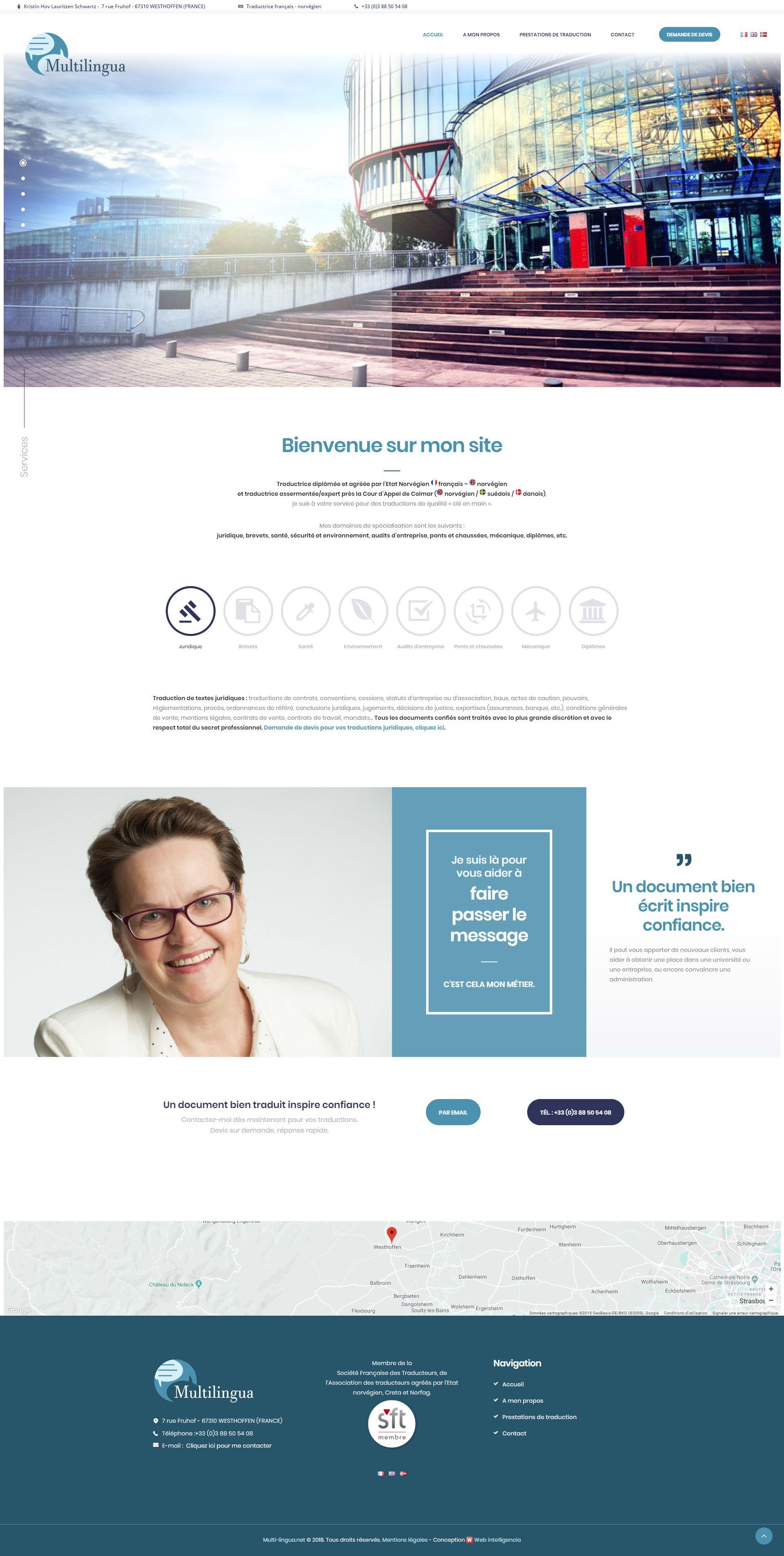 Page accueil Multilingua