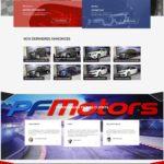 Page d'accueil du site PF Motors